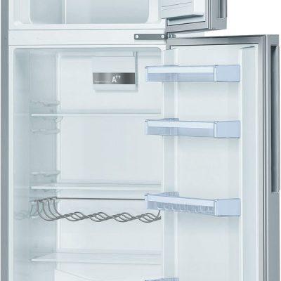 A++ - power ventilation - lowfrost - 300l(230+70) - dim : h  Réfrigérateur/Congél. BOSCH KDV33VL32 inox/alu/silver